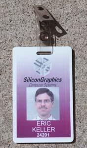 Eric Keller's ID badge